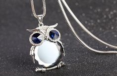 Do you love Owls? Show off your love with this Luxurious Limited Edition Owl Necklace! Comes in 4Colors: Ocean Blue, Raindrop Blue, Desert Brown, and Frost Whi