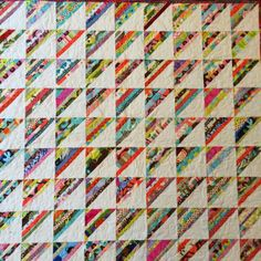 I QUILT FOR FUN: Special K!  Beautiful string quilt!