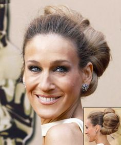 Sarah Jessica Parker Pillow Bun ... Cute Bun Hairstyles