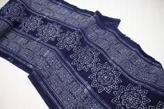Hmong Traditional Batik Indigo Fabric from Hmong by HomeByPat