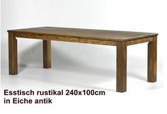 Esstisch RUSTIKAL Kiefer / Pinie massiv 240x100cm von Massivholzmoebel Kuckuck auf DaWanda.com