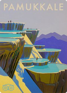 Pamukkale, Turkey the image was created with acrylic paint by Jon Daly