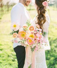 fun summer bouquet - photo by Olivia Richards Photography http://ruffledblog.com/30-dream-bouquets-for-summer-weddings