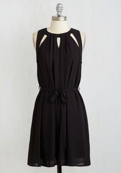 Fundamentally Fetching Dress. Sometimes the simplest styles - such as this effortless little black dress - make you feel the most mesmerizing. #black #modcloth