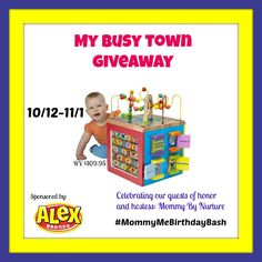 One lucky winner will get the My Busy Town from #MommyMeBirthdayBash #giveaway Ends 11/1