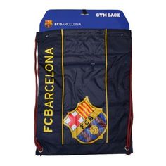 FC Barcelona Cinch Red Backpack Mochila Book Bag Gym drawstring Sack   Isport  GymBag   47ed3651fd6