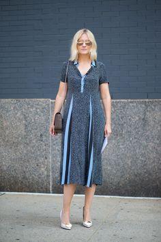 Laura Brown in Suno with Saint Laurent bag   - HarpersBAZAAR.com
