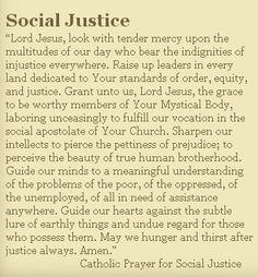Catholic prayer for social justice.