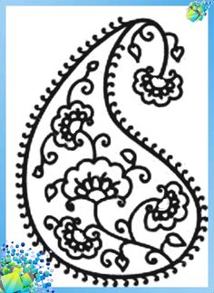 Indian cucumber paisley - stencil and coloring options . Discussion on LiveInternet - Russian Service Online Diaries Paisley Stencil, Online Diary, Paisley Design, Stencils, Mandala, Dots, Calligraphy, Embroidery, Glass