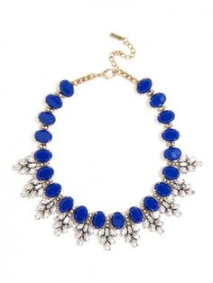 this necklace will prove to be your go-to for sophisticated fare .//. Royal blue statement necklace