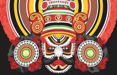 A Traditional Dance for of Coastal Karnataka, India Dancing Drawings, Bird Drawings, Kathakali Face, Art Forms Of India, Kerala Mural Painting, Lord Ganesha Paintings, Mangalore, Indian Folk Art, Dance Art