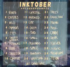 Image result for inktober prompts