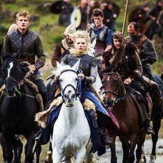 Vikings ~ Lagertha and Bjorn on horseback