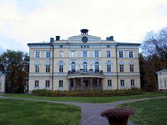 Vuojoki Mansion, Eurajoki, Finland Country Houses, Villas, Winter Wonderland, Castles, Countries, Yellow, Blue, Buildings, Around The Worlds