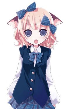 Girl Neko So Kawaii :* ~> uniform, neko, girl anime,. Anime Cat, Awesome Anime, Neko, Anime People, Anime Animals, Neko Girl, Nekomimi, Anime Characters, Anime Style