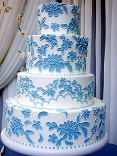 #Blue Wedding Cake ... Wedding ideas for brides, grooms, parents & planners ... https://itunes.apple.com/us/app/the-gold-wedding-planner/id498112599?ls=1=8 … plus how to organise an entire wedding ♥ The Gold Wedding Planner iPhone App ♥