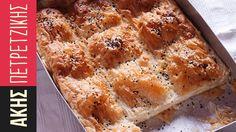 Τυρόπιτα   Kitchen Lab by Akis Petretzikis Sweets Recipes, Appetizer Recipes, Appetizers, Cooking 101, Cooking Recipes, Macedonian Food, Cheese Pies, Food Tags, Cookie Do