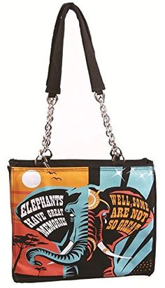 Calico Dragon Great Memories AntiCircus Abuse Canvas Vegan Tote Purse Black ** More info could be found at the image url.