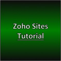 Zoho Sites Tutorial #zohosites #makemoneywithwebsites