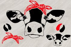 Free SVG Cow Head whit Bandana Silhouette SVG cowboy western Farm Milk Free SVG Files available in multiple formats that work with Silhouette Design Studio and Cricut Design Space Silhouette Design Studio, Silhouette Cameo Projects, Cow Head, Horse Head, Heifer Cow, Pintura Country, Scene Creator, Svg Files For Cricut, Design Bundles