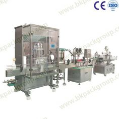 Auto shampoo filling capping labeling line