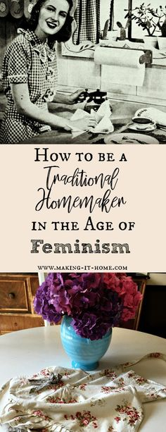 to Survive as a Traditional Homemaker in the Age of Third Wave Feminism How to be a traditional homemaker in a worldly culture.How to be a traditional homemaker in a worldly culture. Vintage Housewife, 1950s Housewife, Cultures Du Monde, Christian Homemaking, Christian Parenting, Living Vintage, Home Management, Homekeeping, Look At You