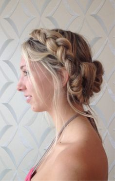 Loose up-dos are in this summer! Showcase those bold blonde braids by first shampooing and conditioning with John Frieda® Sheer Blonde® line. Blonde Braids, Blonde Hair, Messy Hairstyles, Wedding Hairstyles, Hairstyle Ideas, Locks, Half Up Half Down Hair Prom, Hair Affair, Great Hair
