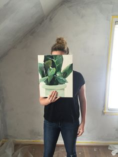 Leaf Planter (11 x 14) $50