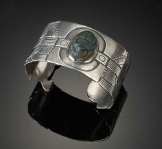 Bracelet Cuff   Margaret De Patta.  Scarb, sterling bracelet.  c. 1930-1935
