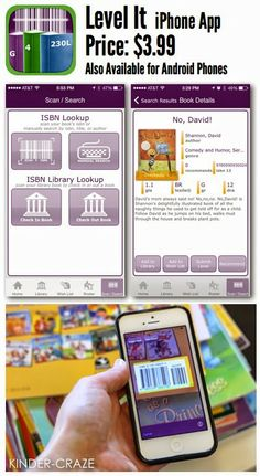 Level It app to level your classroom library books - like the scholastic book wizard you can inventory your books with this app, but you can also add a class roster and student profiles to check books in/out to students...  that may be handy!