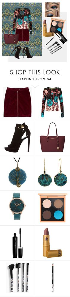 """Teal and Burgundy"" by teresarussell49 ❤ liked on Polyvore featuring Madewell, Issa, Louis Vuitton, Michael Kors, Jamie Joseph, Nixon, MAC Cosmetics, Marc Jacobs, Lipstick Queen and Torrid"