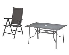 Gartenmöbel SET im Landhausstil Tisch 2 Stühle grün 5Y0129