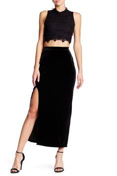 Velvet Column Skirt