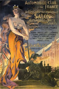 Automobile Club De France Salon Int Paris 1901 - Mad Men Art: The 1891-1970 Vintage Advertisement Art Collection