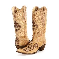 BootDaddy Collection with Corral Tan Lizard Cowgirl Boots