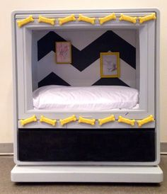 Upcycled TV Dog Bed - Oh my gosh those little pic frames are too cute!!
