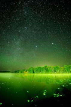 Night Sky - Somewhere near Daugavpils, Latvia ~ Photo by...Arthur Kalnins©