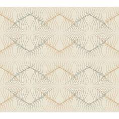 York Wallcoverings WH2680 Wallpap-Her Optic Wallpaper Beige / Bright Silver / Golden Brown Home Decor Wallpaper Wallpaper