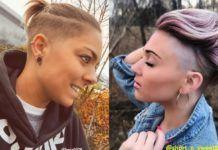 Haare undercut frauen lange Undercut Hinten