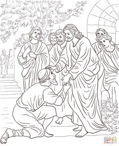 Kindness, : Kindness is Jesus Healing People Coloring