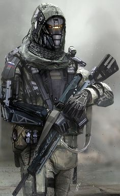 Dyna-Tec Industries Russian Soldier, Dom Lay on ArtStation at https://www.artstation.com/artwork/dyna-tec-industries-russian-soldier