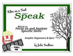 Speak Movie Graphic Organizers and Quiz Bundle