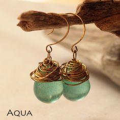 'Monsoon' Resin Drop Earrings $48.00 www.jayamaya.com.au #Resin #Earrings