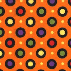 Moda Happy Howloween by Deb Strain - Orange Dot