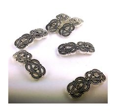 10 Marcasite 2 Hole Slider Beads by MobileBoutiqueshop Beading Projects, Beading Supplies, Fine Jewelry, Jewelry Making, Mobile Boutique, Etsy Business, Craft Sale, Marcasite, Craft Items
