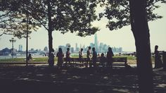 An afternoon in a park with the city view #nyc #vsco #summer