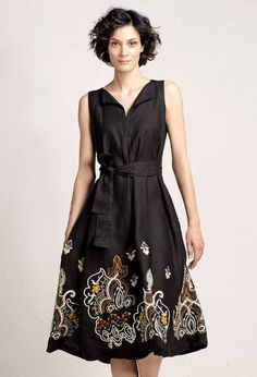 Dress with Embroidery - Dress Next Dresses, Dresses For Work, Formal Dresses, Embroidery Dress, Neutral Colors, Spring Summer, Womens Fashion, Outfits, Style