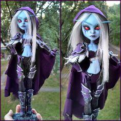 Handmade from Ooak Tree made  Sylvanas Windrunner OOAK doll!