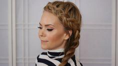 Dutch Braid Headband Tutorial + Side Braid