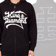 OFFICIAL ~ KING DIAMOND Logo with Symbol zip-up hoodie